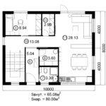 Двухэтажный дом 160/1-1 (1 этаж)