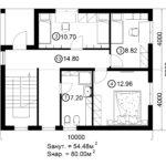 Двухэтажный дом 160/1-1 (2 этаж)