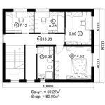 Двухэтажный дом 160/1-7 (2 этаж)