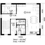 Двухэтажный дом 160/1-8 (1 этаж)