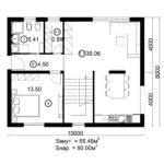 Двухэтажный дом 160/2-2 (1 этаж)