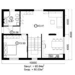 Двухэтажный дом 160/2-3 (1 этаж)