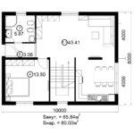 Двухэтажный дом 160/2-5 (1 этаж)