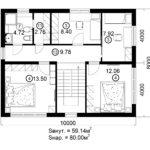 Двухэтажный дом 160/2-5 (2 этаж)