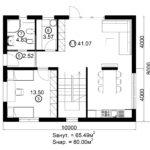 Двухэтажный дом 160/2-6 (1 этаж)