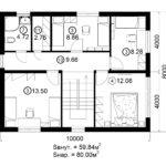 Двухэтажный дом 160/2-6 (2 этаж)
