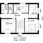 Двухэтажный дом 160/2-8 (2 этаж)