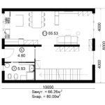 Двухэтажный дом 160/3-1 (1 этаж)