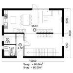 Двухэтажный дом 160/3-4 (1 этаж)