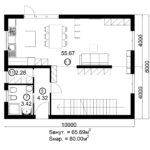 Двухэтажный дом 160/3-5 (1 этаж)