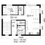 Двухэтажный дом 160/1-3 (1 этаж)