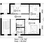 Двухэтажный дом 160/1-3 (2 этаж)