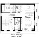 Двухэтажный дом 160/1-4 (1 этаж)