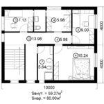 Двухэтажный дом 160/1-4 (2 этаж)