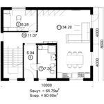 Двухэтажный дом 160/1-5 (1 этаж)