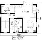 Двухэтажный дом 160/1-6 (1 этаж)