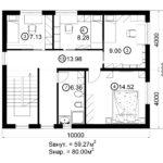 Двухэтажный дом 160/1-6 (2 этаж)