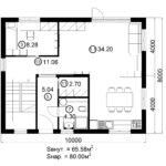 Двухэтажный дом 160/1-7 (1 этаж)