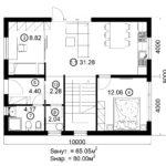 Двухэтажный дом 160/2-1 (1 этаж)