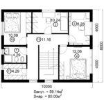 Двухэтажный дом 160/2-2 (2 этаж)