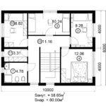 Двухэтажный дом 160/2-3 (2 этаж)
