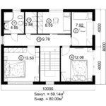 Двухэтажный дом 160/2-4 (2 этаж)