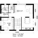 Двухэтажный дом 160/2-7 (1 этаж)