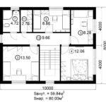 Двухэтажный дом 160/2-7 (2 этаж)