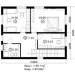 Двухэтажный дом 160/3-1 (2 этаж)
