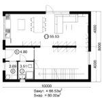 Двухэтажный дом 160/3-2 (1 этаж)