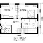 Двухэтажный дом 160/3-2 (2 этаж)