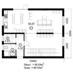 Двухэтажный дом 160/3-3 (1 этаж)