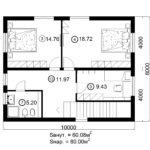 Двухэтажный дом 160/3-3 (2 этаж)