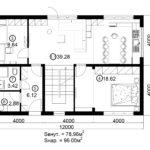 Двухэтажный дом 192М/1-1 (1 этаж)