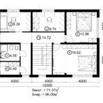 Двухэтажный дом 192М/1-1 (2 этаж)