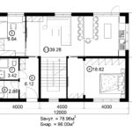 Двухэтажный дом 192М/1-2 (1 этаж)