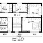 Двухэтажный дом 192М/1-2 (2 этаж)