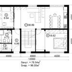 Двухэтажный дом 192М/1-3 (1 этаж)