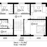 Двухэтажный дом 192М/1-3 (2 этаж)