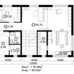 Двухэтажный дом 192М/1-4 (1 этаж)