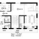Двухэтажный дом 192М/1-5 (1 этаж)