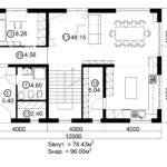 Двухэтажный дом 192М/1-6 (1 этаж)