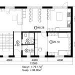 Двухэтажный дом 192М/2-1 (1 этаж)
