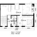 Двухэтажный дом 192/1-1 (1 этаж)
