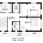 Двухэтажный дом 192/1-1 (2 этаж)