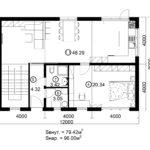 Двухэтажный дом 192/1-2 (1 этаж)
