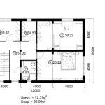 Двухэтажный дом 192/1-2 (2 этаж)