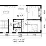 Двухэтажный дом 192/1-3 (1 этаж)