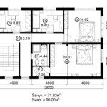 Двухэтажный дом 192/1-3 (2 этаж)