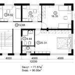 Двухэтажный дом 192/1-4 (2 этаж)